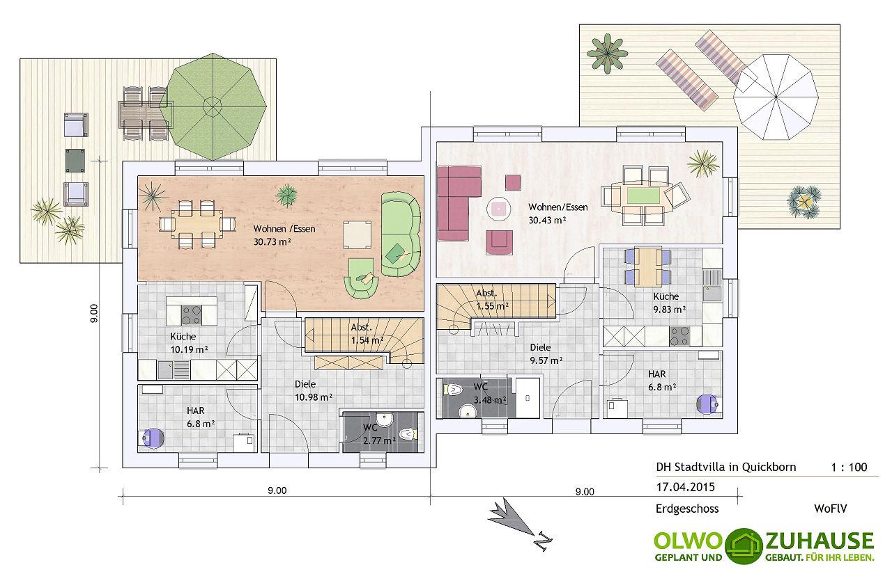 quickborn stadtvilla doppelhaus. Black Bedroom Furniture Sets. Home Design Ideas