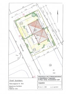 Lageplan Stadtvilla Quickborn